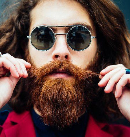 Homme au style hipster de l'est de Londres