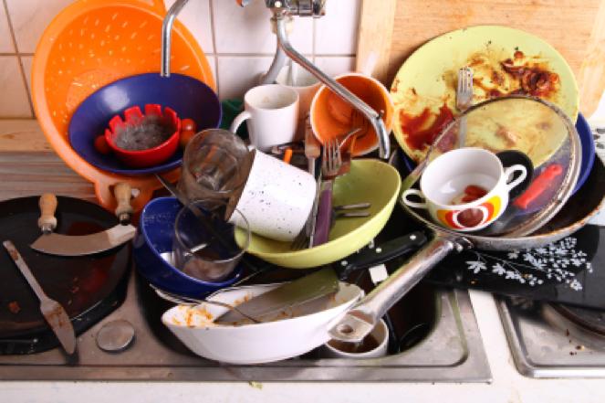 Désordre vaisselle en colocation